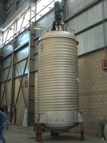 Reactores agitados - Reactores con agitación, sistemas de calefacción y refrigeración
