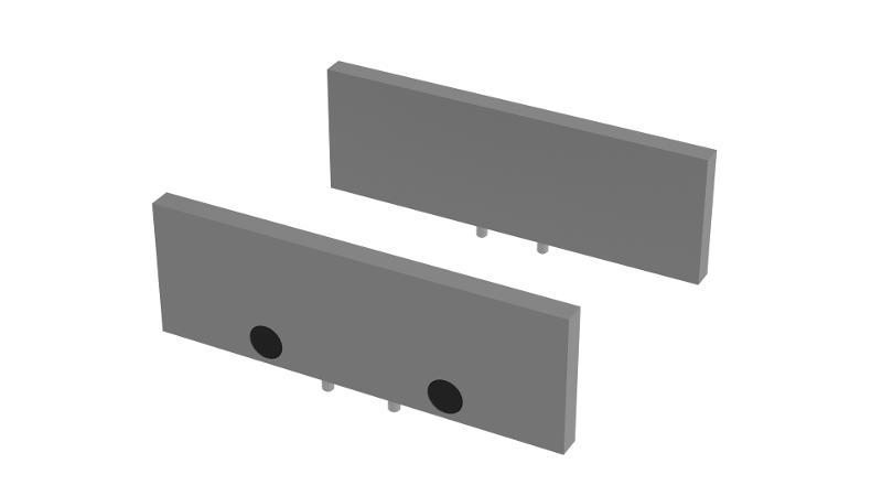 Parallel-Unterlagen aus Stahl gehärtet Höhe 27 mm - null