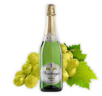 Vendanges mademoiselle White Grape - Boisson pétillante sans alcool à base de raisins blancs