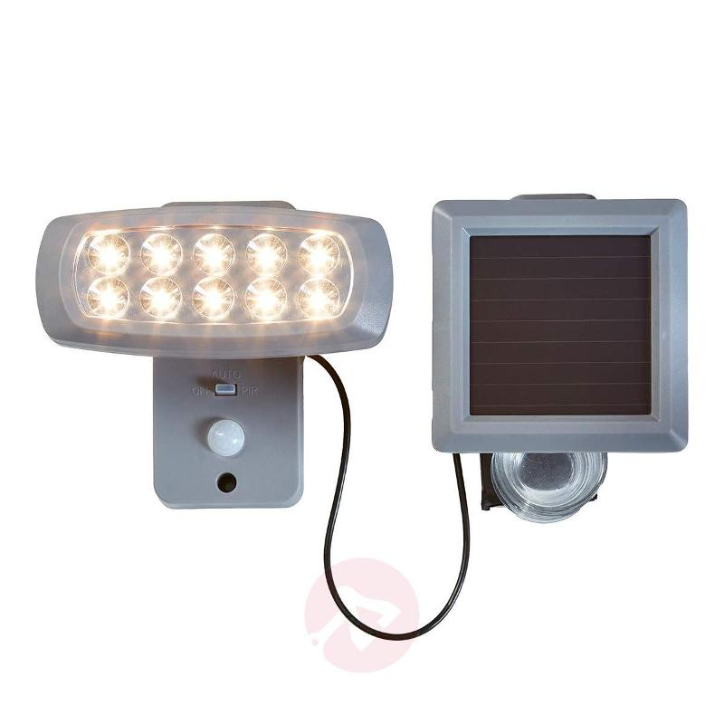 Solar LED spotlight Powerspot with sensor, grey - Solar Motion Sensor Lights