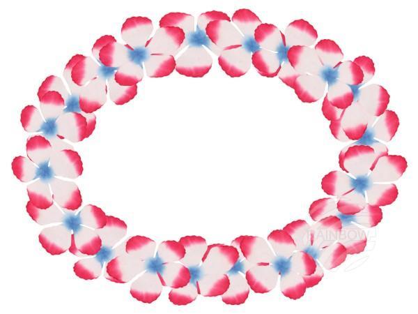 Maxi Hawaiiketten blau weiß pink - null