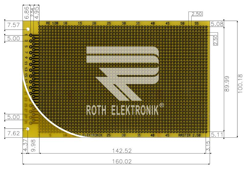 RE120-LF - Prototyping Boards Dual Inline