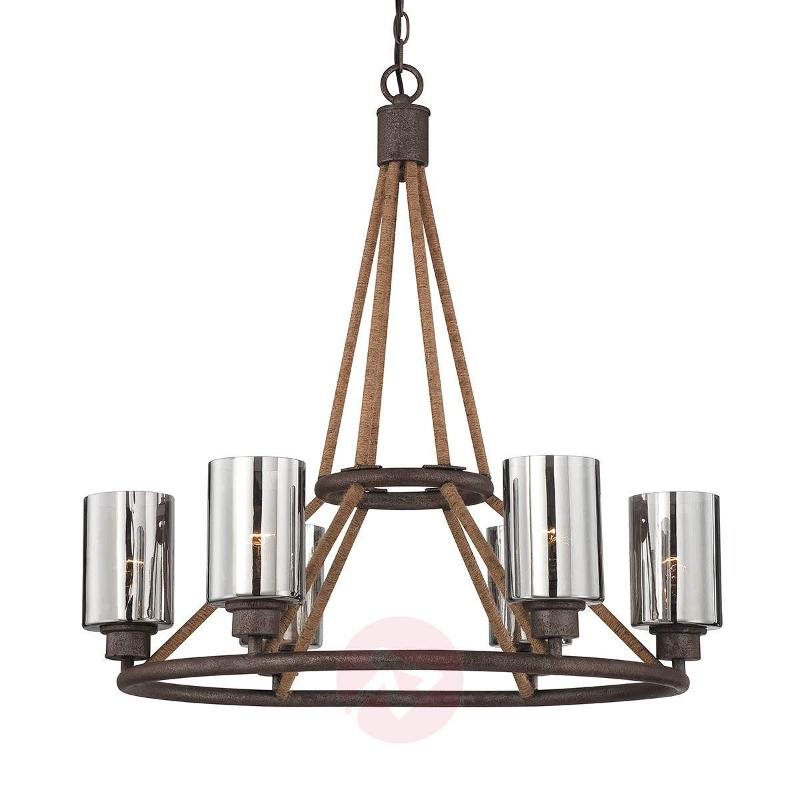 Chandelier Maverick with glass lampshades - Chandeliers