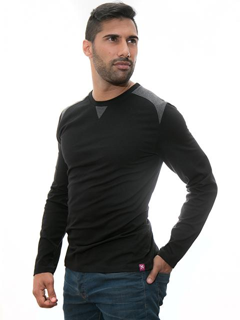 Black Sweater for Man - Casual Collection of Stezzo Vivere