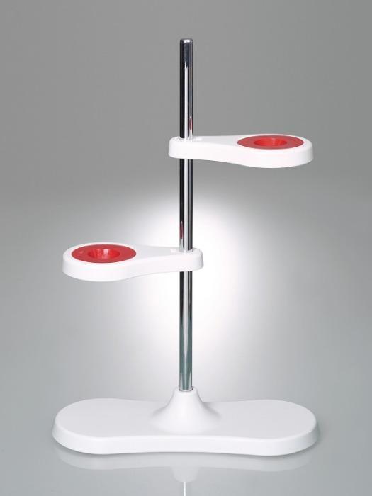 Soporte para embudos para dos embudos - Equipo de laboratorio, para dos o cuatro embudos, concepto innovador de imán