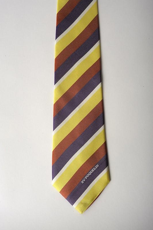 Cravate à rayures en soie  - club de rugby