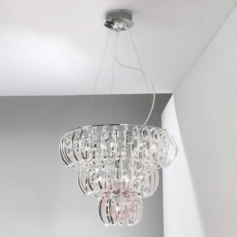 Farina Hanging Light Glass - Pendant Lighting
