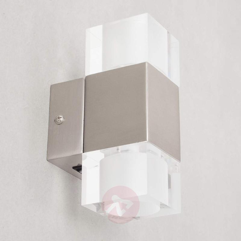 Square Lucian LED wall lamp, two-bulb - Wall Lights