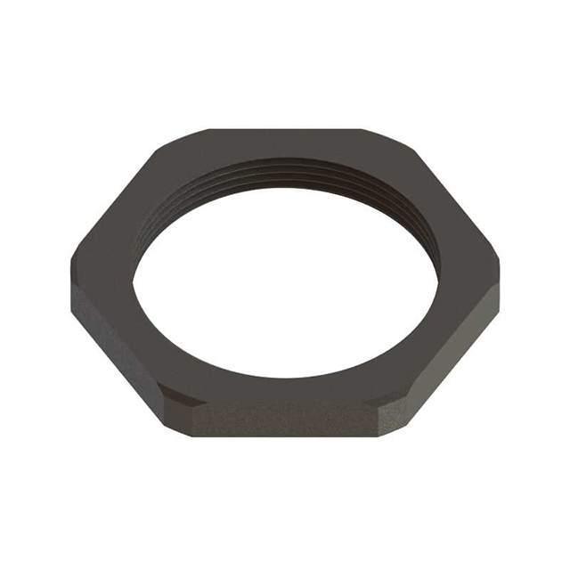 "LOCK NUT 0.669"" NYLON M12 - Essentra Components CGLN-M12-BK"