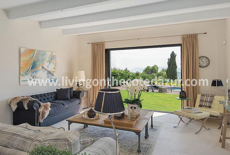 Renovated villa upper hills of Cannes in prestigous district - Real Estate