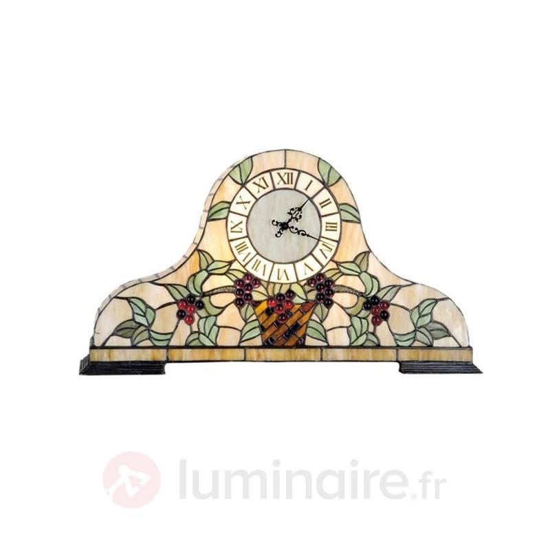 Horloge de table Clockwork II style Tiffany - Lampes décoratives d'intérieur