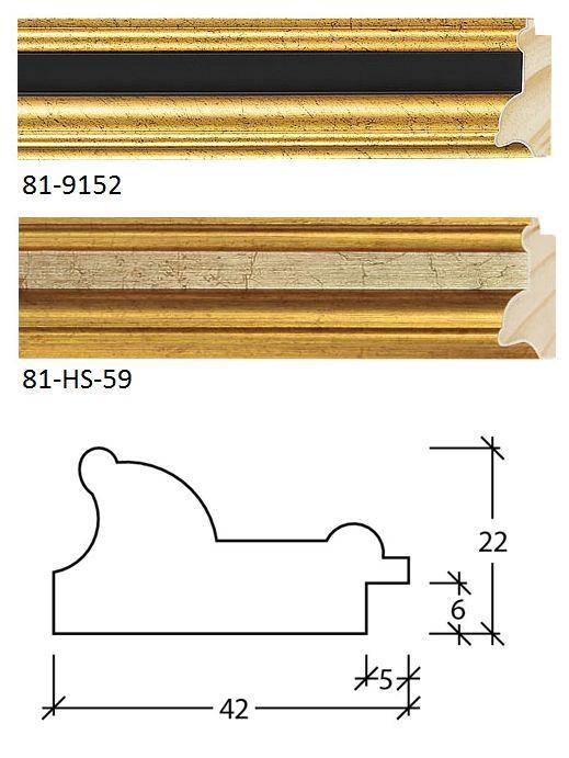 Molduras para quadros - Molduras dourado 81 ons