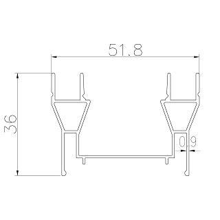Partition profiles - GD-51X36