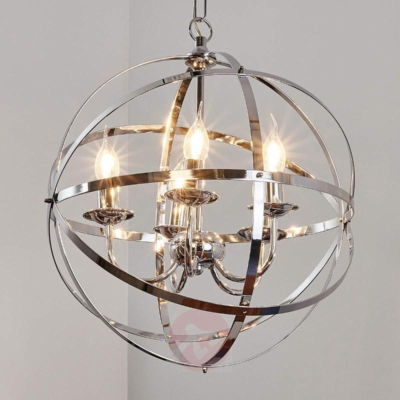 Glossy chrome Patrisia pendant lamp - Pendant Lighting