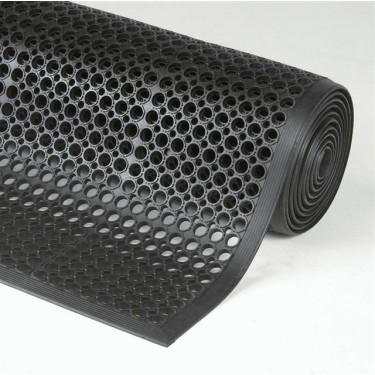 Tapis de sol industriel - Tapis Anti-fatigue Drainant Noir