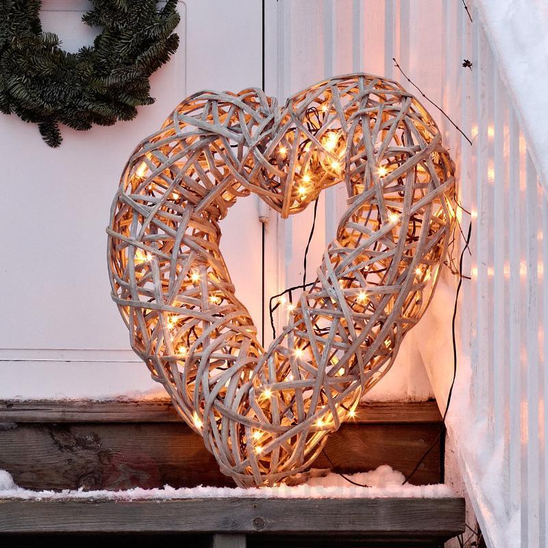 Cœur LED décoratif d'extérieur Corazon IP44 59 cm - Décorations de Noël LED d'extérieur