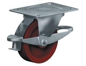 SWIVEL CASTOR WITH WHEEL BRAKE - Heavy Duty Castors