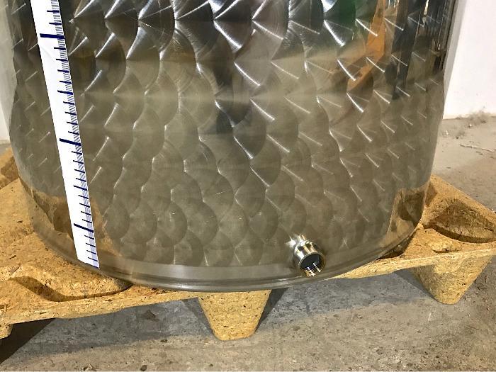 Serbatoio in acciaio inossidabile - 3 HL - Fondo piatto - Tappo galleggiante