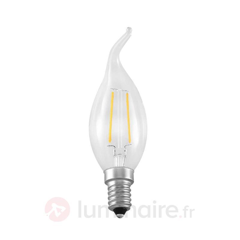 Ampoule flamme LED E14 2,5W 827 à filament - Ampoules LED E14