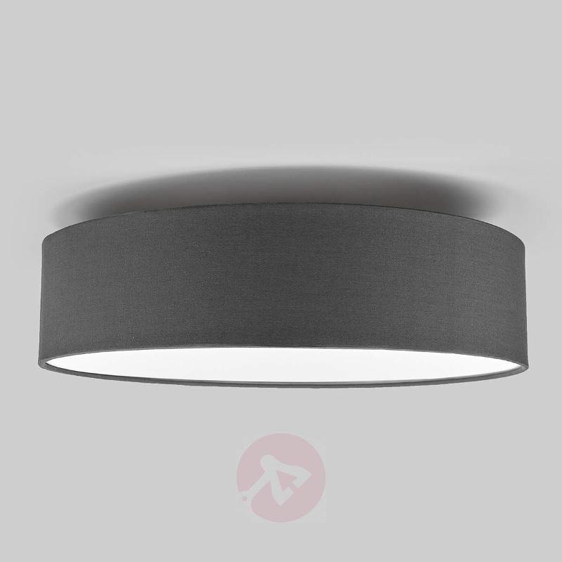 Grey LED fabric ceiling light Sebatin - Ceiling Lights