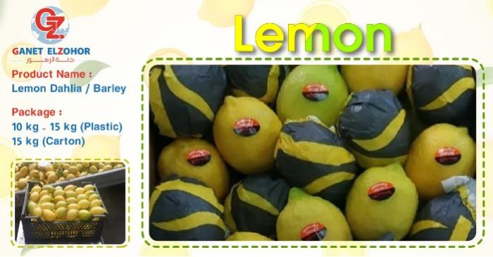 """Organic lemon  - """" Dhalia & Barley """""""