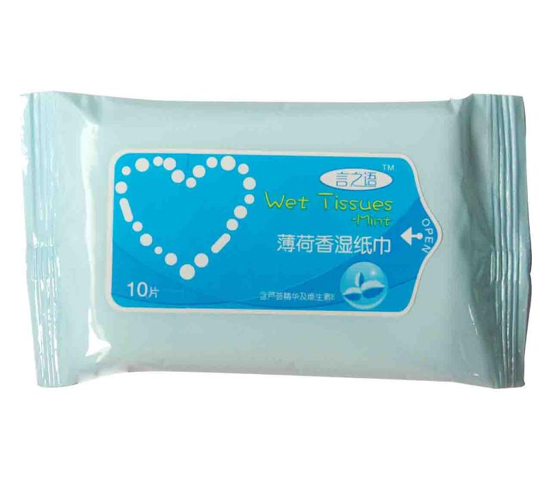 Wet Tissues 10S-Cool Mint - null
