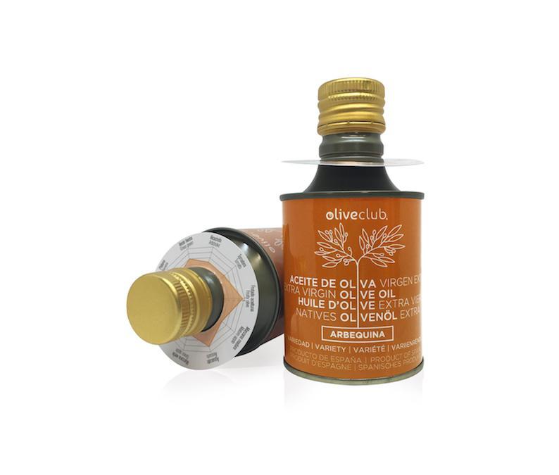 Aceite De Oliva Virgen Extra Oliveclub Arbequina Lata 250 Ml - Aceite de oliva primera prensa, extracción en frío