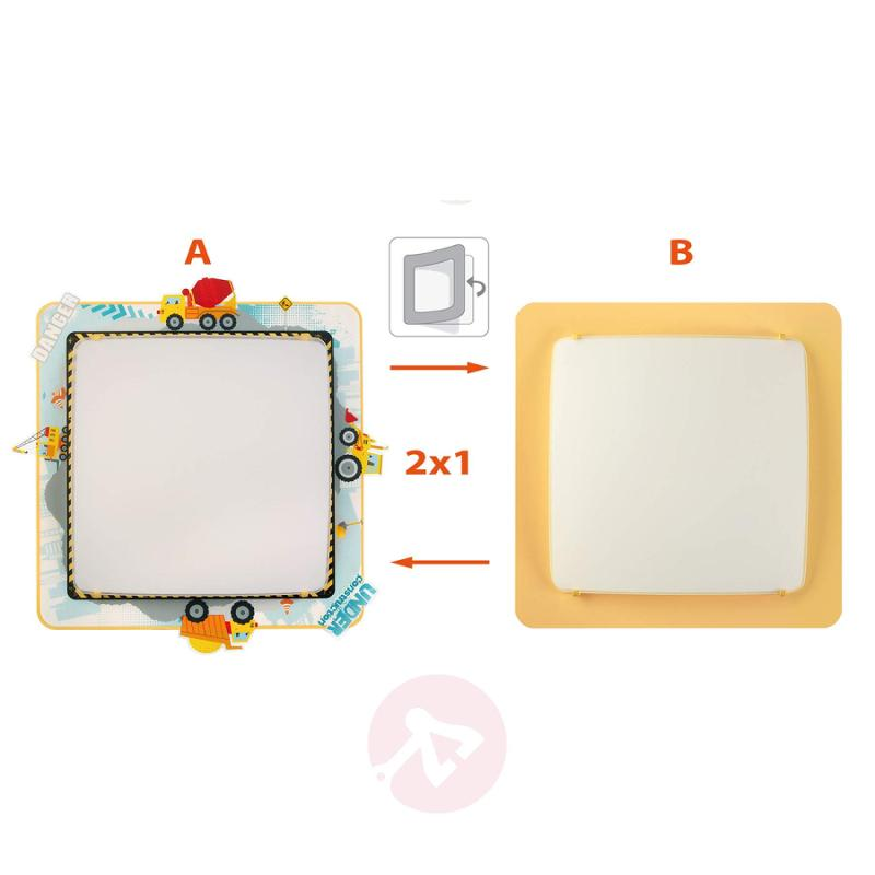 2in1 Constructor ceiling lamp for children - indoor-lighting