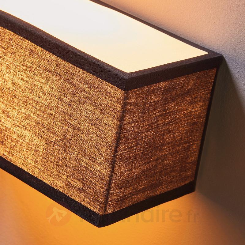 Katrien - applique textile noire rectangulaire - Appliques en tissu