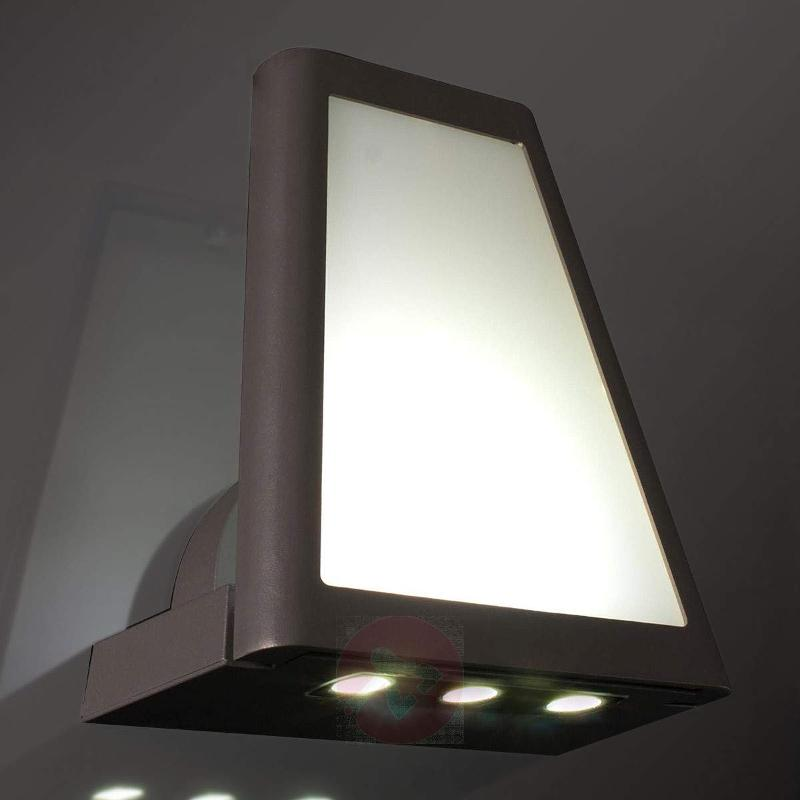 LED lantern ext. wall light - with colour filters - Outdoor Wall Lights