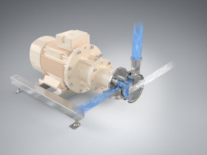 Máquina humectadora de polvo YSTRAL Conti-TDS - Succión, suspensión y disolución de polvos en líquidos de bajo nivel de polvo