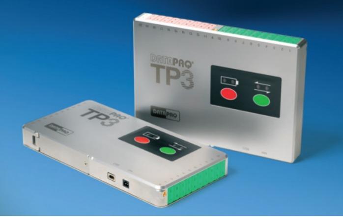 DATAPAQ TP3 Temp.- Datenlogger mit 20 Messkanälen - 20-Kanal-Temperatur-Datenlogger für die Stahl-, Keramik-, Glasherstellung