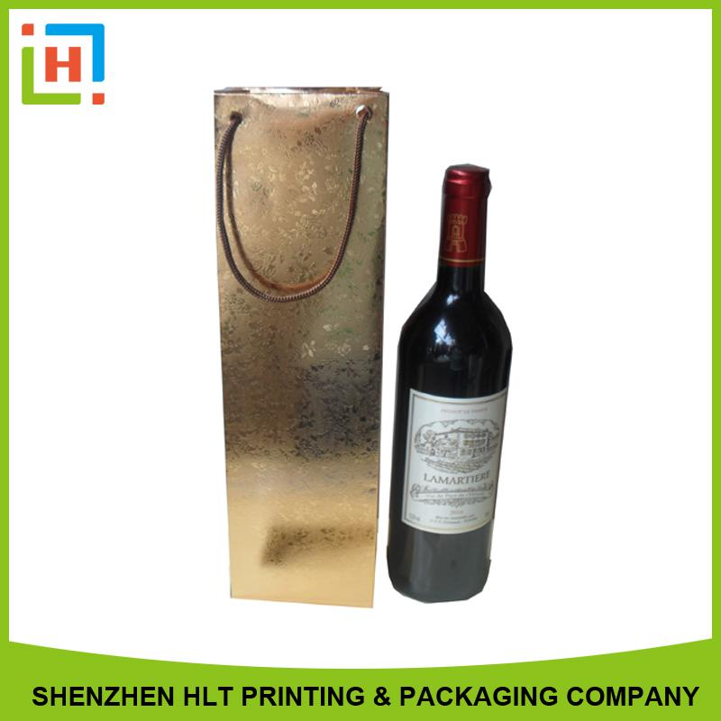 silvery card wine paper bag - Paper bag