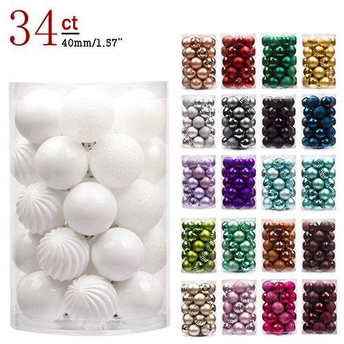 Christmas tree ornaments decoration ball - Blown Plastic Ball/Decoupage Ornament