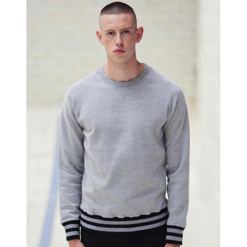Sweat shirt rayé homme Superstar - Sans capuche