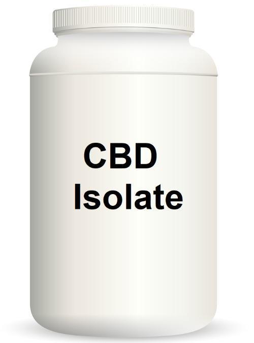 CBD Aislado 99%, 1 kg - Aislamiento de cristales de cannabidiol