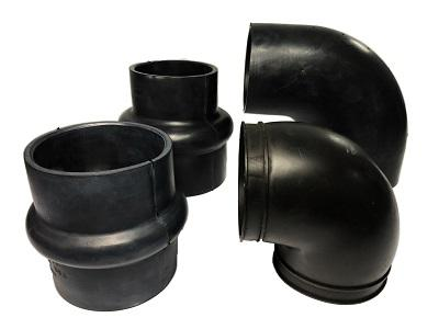 Rubber Elbow and pipe - custom-made rubber tube elbow