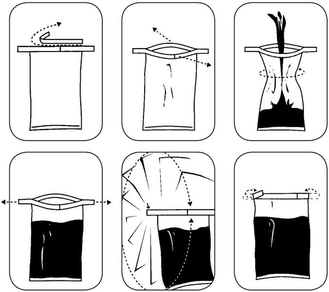 Sampling bag SteriBag - Transport of samples, for solid, semi-solid and liquid media