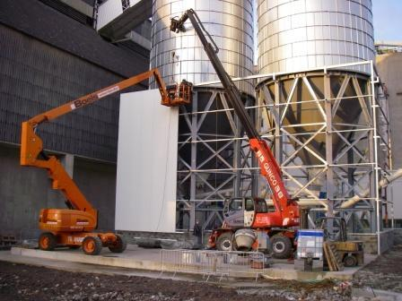 Silo on frame with cone ( AGC Belgium ) - null