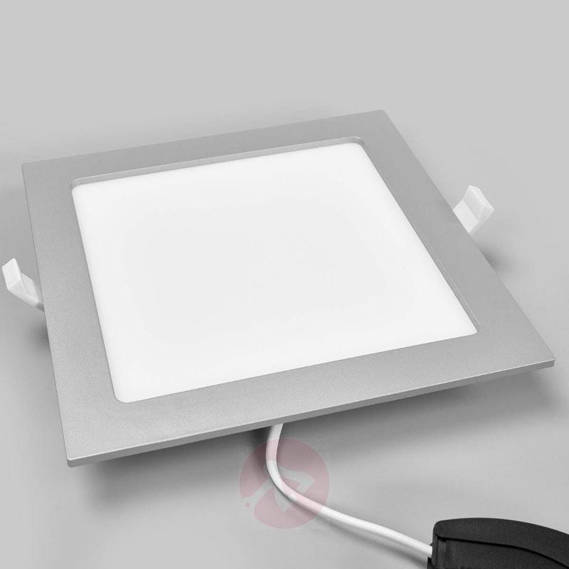 LED downlight Joki in silver, IP44 - Recessed Spotlights