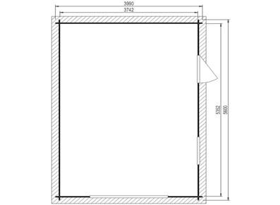 Garage bois - Porte basculante
