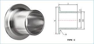 Copper Nickel 70/30 Short Stub End - Copper Nickel 70/30 Short Stub End