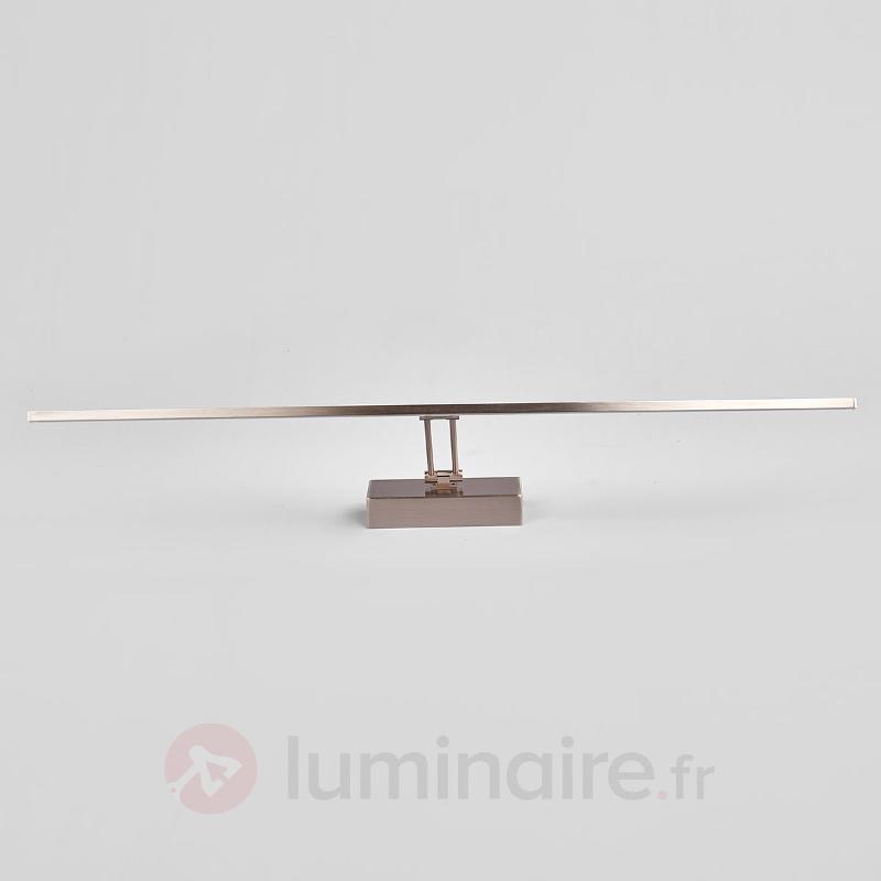 Applique tableau LED Emilias nickel mat - Appliques LED
