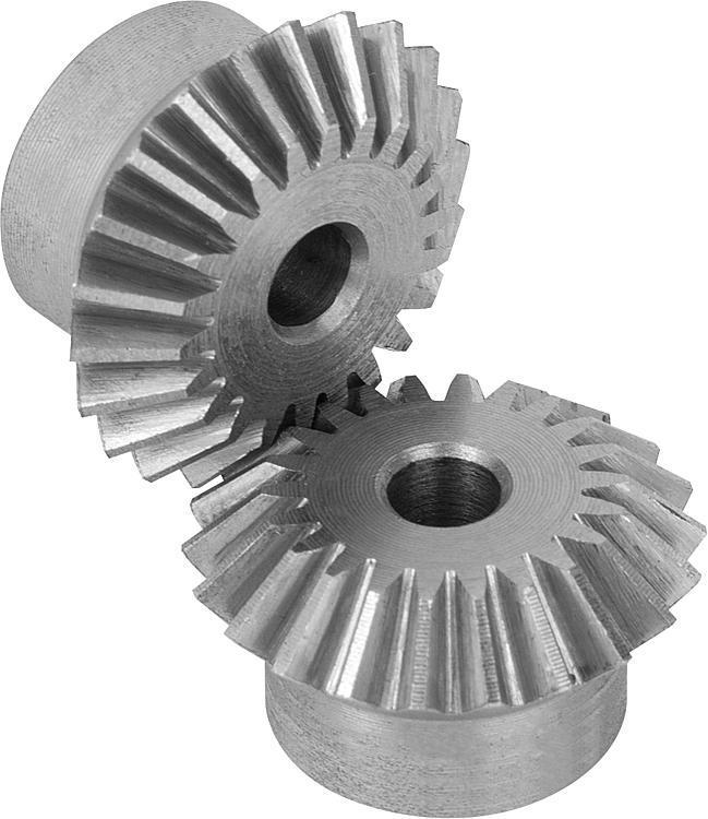 Engrenage conique en acier, rapport 1:1 Denture droite... - Engrenages droit Crémaillères Engrenages coniques