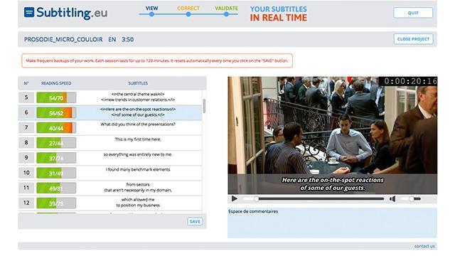 création de web app  - sous titrage en temps réel