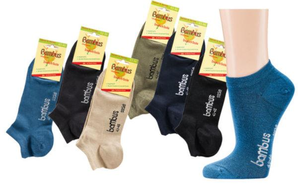"""2167 - Bamboo Sneaker Socks """"Color"""" - Sneaker socks made of bamboo cellulose. Very fine Quality still durable."""