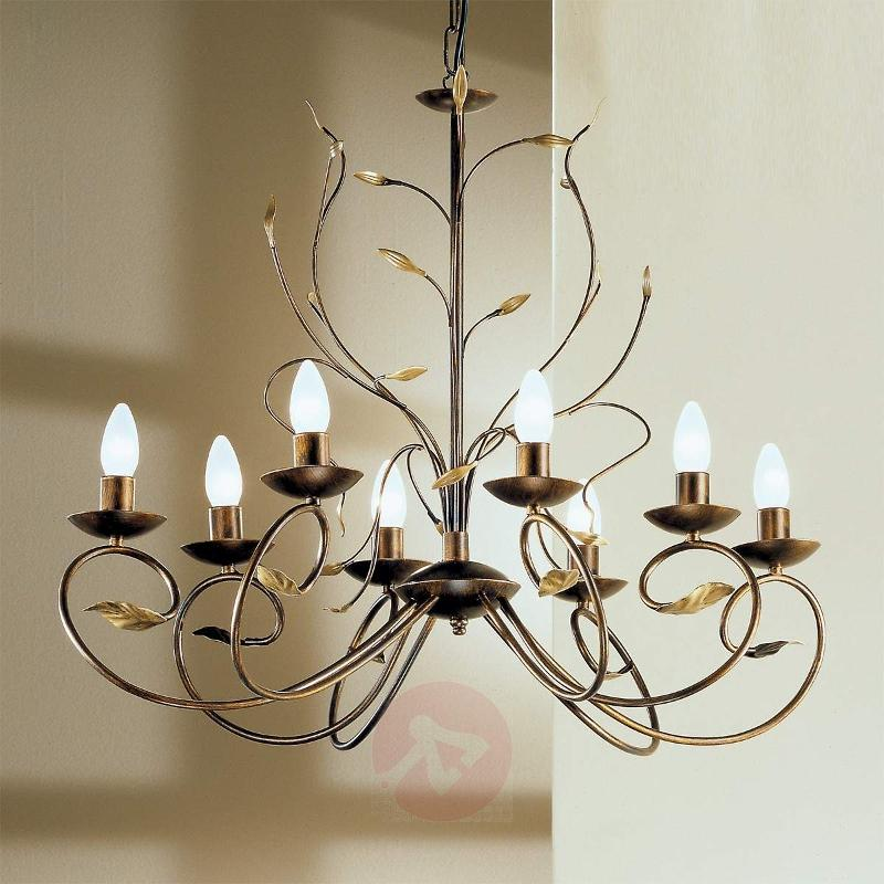 Regine Florentine Chandelier Eight Bulbs - Chandeliers