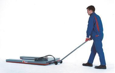 Flat lift Safety-Line - Flat lift Safety-Line with transport roller