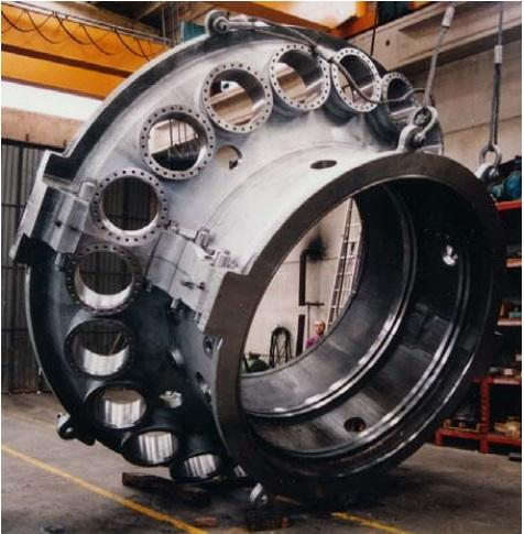 COMBUSTION CHAMBER CASING FOR TURBINE - Machining