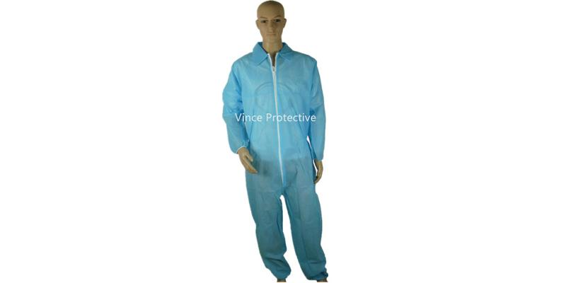 PP Blue Coverall without hood -